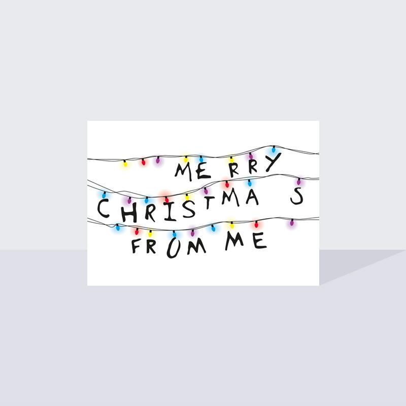 Stranger Things Christmas Card A6