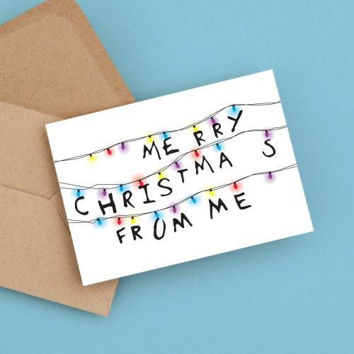 Stranger Things Christmas Card A6
