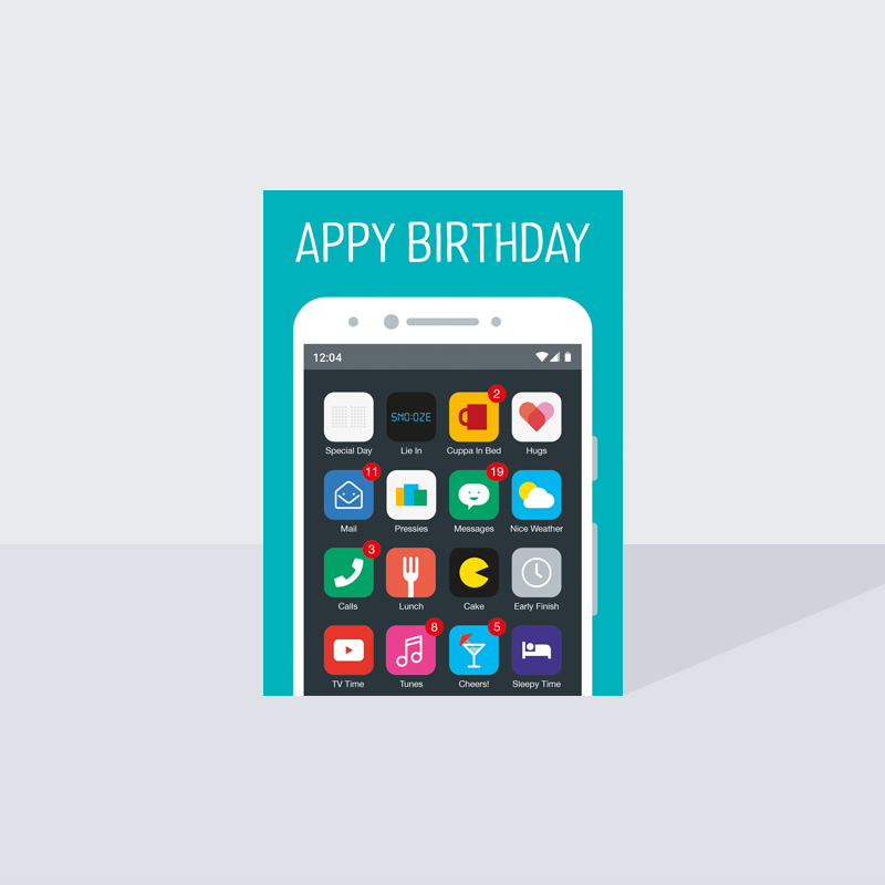 Appy Birthday Card