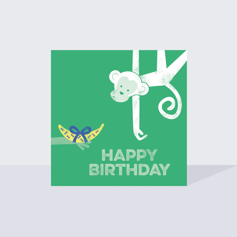 Monkey Business Birthday Card