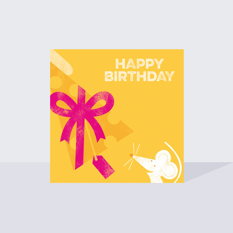 Cute Mouse Birthday Card