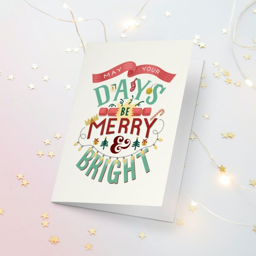 May your Days be Merry Christmas Card
