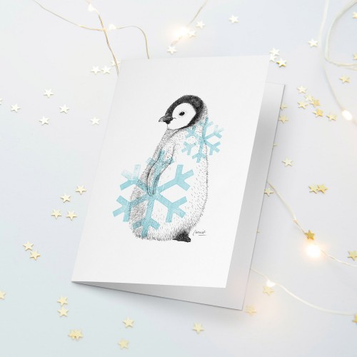 Cute Baby Penguin Christmas Card