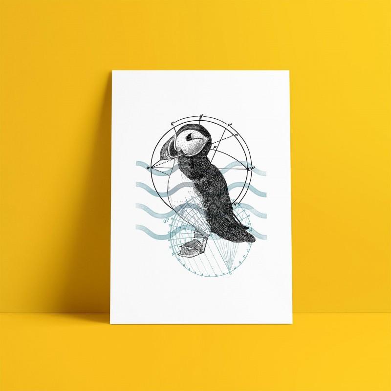Puffin A5 Print