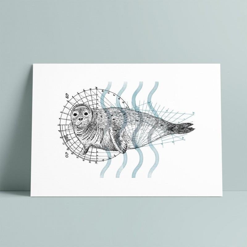 Seal A5 Print