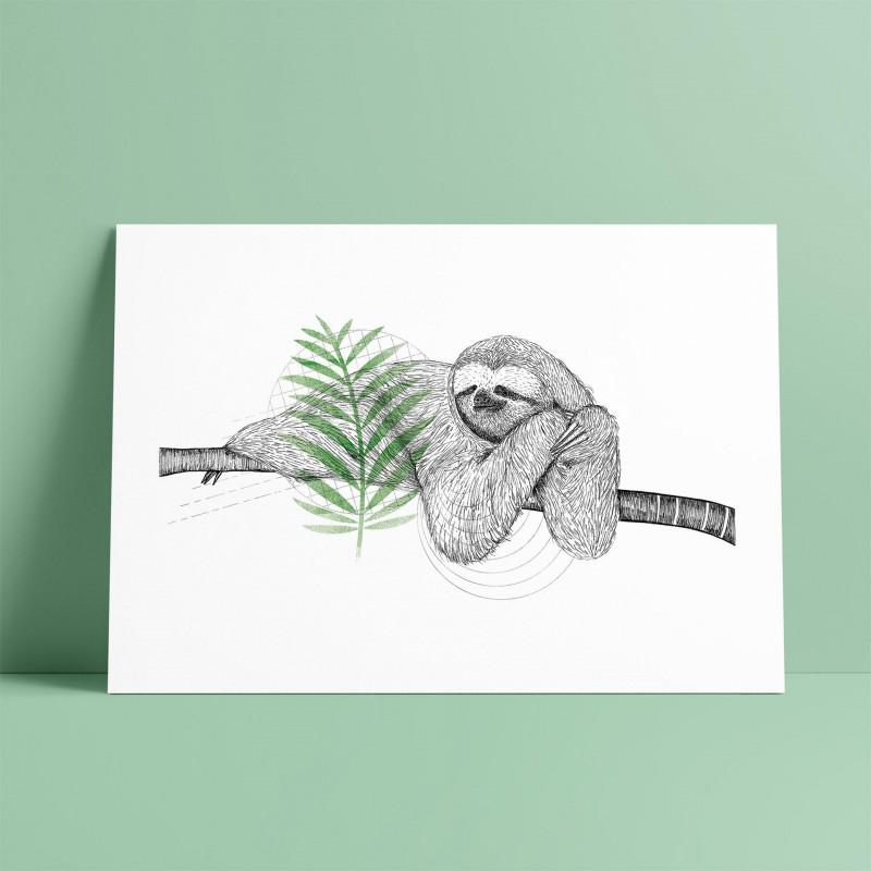 Sloth A5 Print