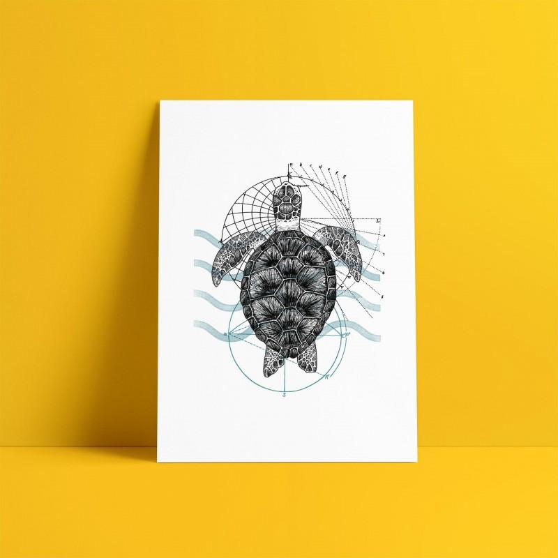 Sea Turtle A5 Print