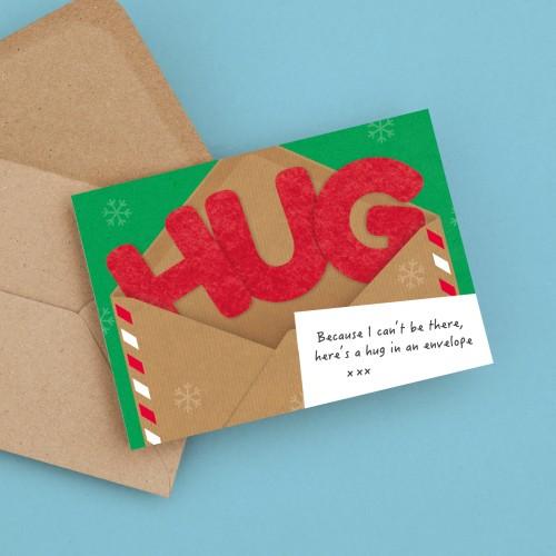 Hug in an Envelope Christmas Card A6