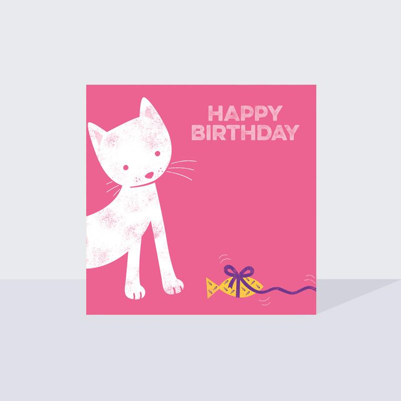 Cute Cat Greetings Card
