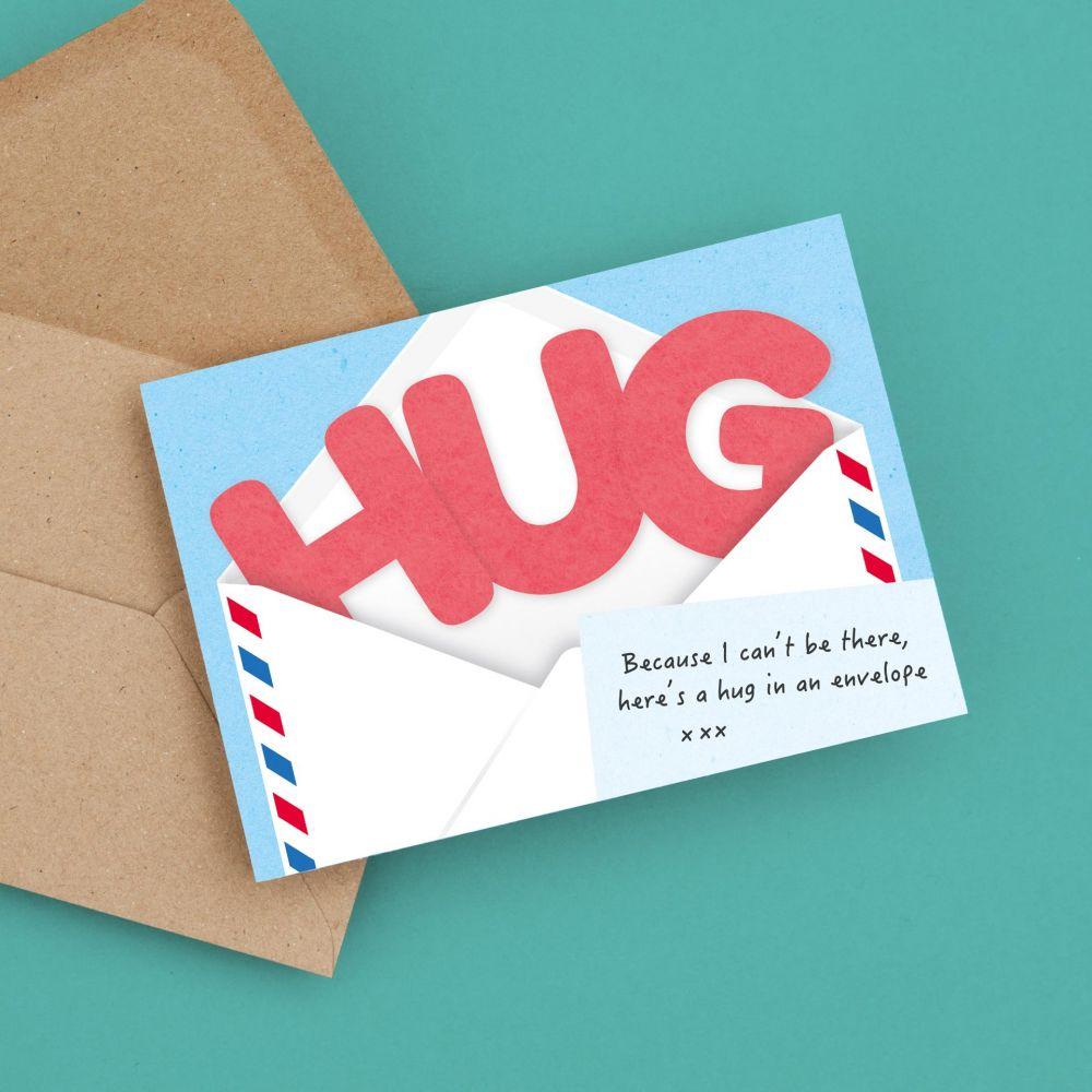 greetings card thinking of you hug